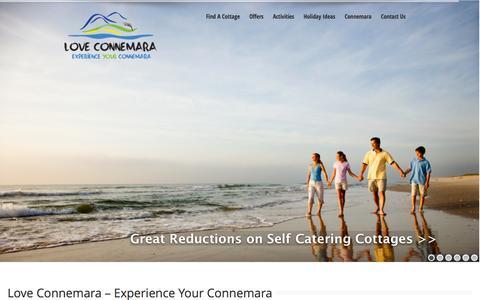 Screenshot of Home Page loveconnemara.com - Love Connemara | Holiday Homes Connemara | Things To Connemara Connemara - captured Sept. 30, 2014