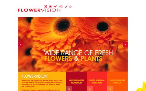 Screenshot of Home Page flowervisionweb.com - Flowervision, a wide range of fresh flowers and plants - captured Oct. 6, 2014