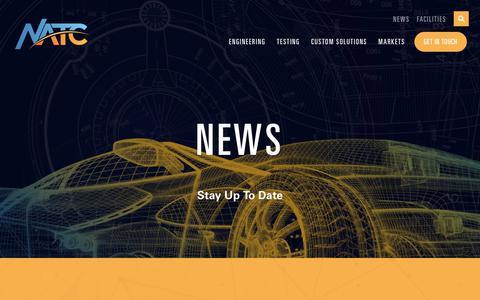 Screenshot of Press Page natc-ht.com - NEWS - NATC - captured Oct. 18, 2018
