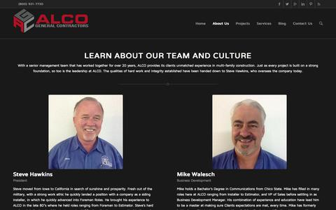 Screenshot of Team Page alcogc.com - ALCO General Contractors |   Meet the Team - captured Nov. 2, 2014