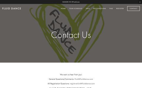 Screenshot of Contact Page fluiddance.com - CONTACT US— Fluid Dance - captured Nov. 25, 2016