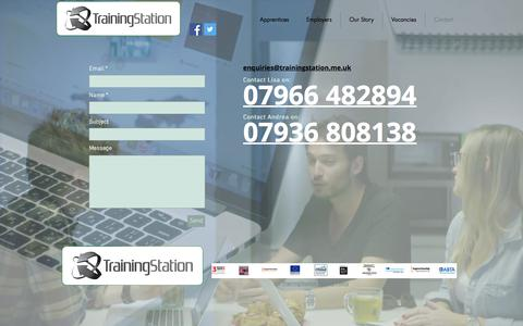 Screenshot of Contact Page trainingstation.me.uk - trainingstation | Contact - captured Sept. 21, 2018