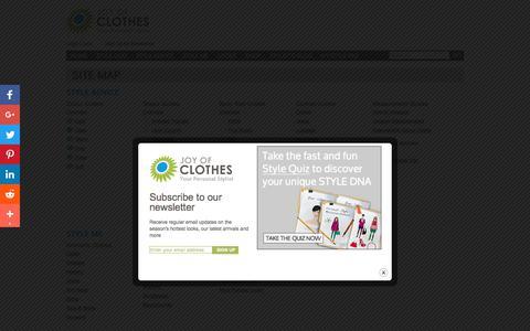 Screenshot of Site Map Page joyofclothes.com - Site Map | Joy of Clothes - captured Sept. 20, 2018