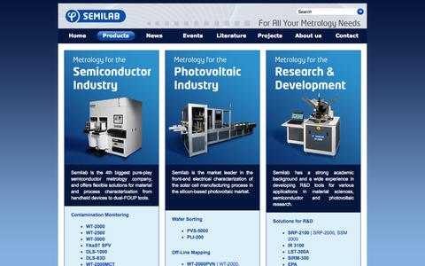 Screenshot of Products Page semilab.hu - Products | Semilab - captured Oct. 3, 2014