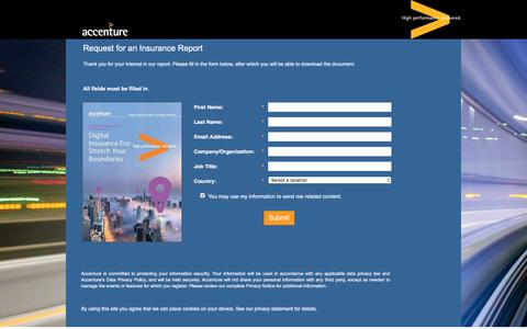 Screenshot of Landing Page accenture.com - Technology Vision for Insurance 2015 - captured Oct. 29, 2016