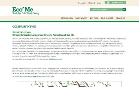 Screenshot of Press Page eco-me.com - Eco-Me | In The News - captured Oct. 22, 2016