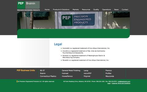 Screenshot of Terms Page pepbrainin.com - Legal | PEP Brainin - captured Oct. 5, 2014