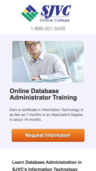 Train to Become an Database Administrator