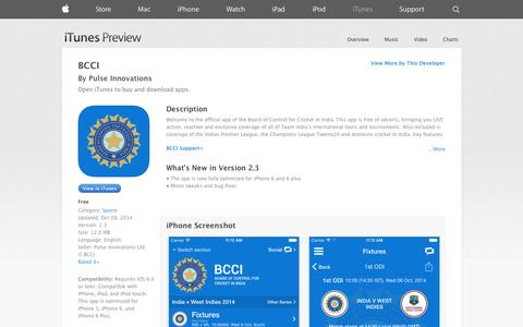 Screenshot of iOS App Page apple.com - BCCI on the App Store on iTunes - captured Nov. 2, 2014