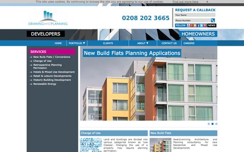 Screenshot of Developers Page drawingandplanning.com - Drawing and Planning Ltd. Commercial Planning Consultants - captured Oct. 5, 2014