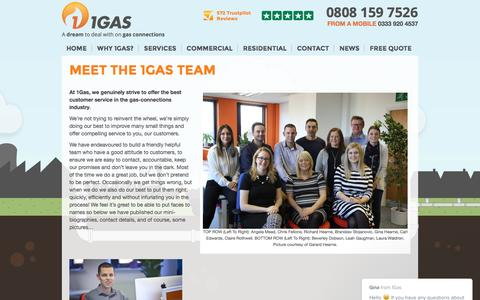 Screenshot of Team Page 1gasconnections.co.uk - Meet The 1Gas Team | 1Gas - captured Dec. 2, 2016