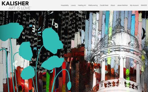 Screenshot of Home Page kalisher.com - Kalisher - Hospitality Art - captured Feb. 19, 2016