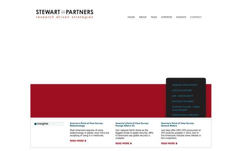 Screenshot of Home Page stewartandpartners.com - Stewart and Partners - Research Driven Strategies - captured Feb. 3, 2016