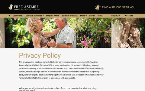 Screenshot of Privacy Page fredastaire.com - Privacy Policy - Fred Astaire Dance Studio - captured Nov. 24, 2017