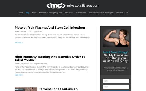 Screenshot of Blog mikecolafitness.com - Personal Training Blog Westchester NY | Mike Cola Fitness - captured Sept. 24, 2018