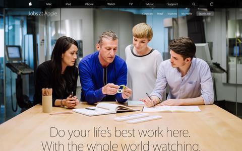 Screenshot of apple.com - Apple - Jobs at Apple - captured Sept. 30, 2015