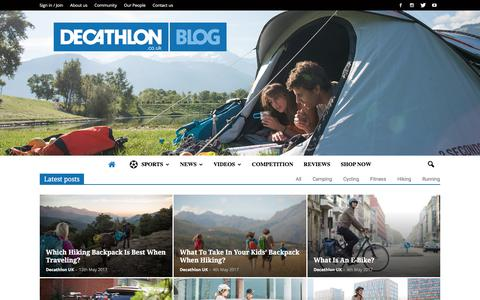 Screenshot of Blog decathlon.co.uk - Decathlon Blog | Homepage | Sport Tips & News - captured June 21, 2017