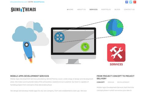 Screenshot of Services Page skinsnthemes.com - Mobile Apps Development Services | Services - captured Jan. 12, 2016