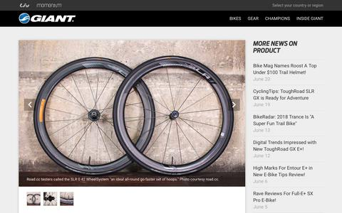 Screenshot of Press Page giant-bicycles.com - Road.CC Impressed with New SLR 0 42 WheelSystem! - Giant Bicycles | Official site - captured June 22, 2018