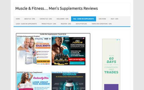 Screenshot of FAQ Page guidemesupplements.com - FAQ - Guide Me Supplements - captured Oct. 30, 2018