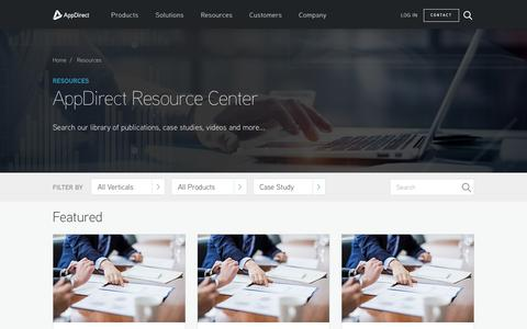 Screenshot of Case Studies Page appdirect.com - The Leading Cloud Commerce Platform - AppDirect - captured May 2, 2017