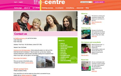 Screenshot of Contact Page the-centre.co.uk - Contact us | the-centre - captured Nov. 1, 2014