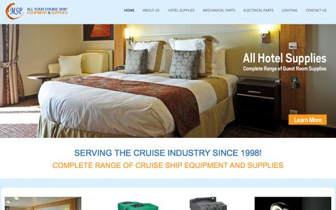 Screenshot of Home Page msp.ws - Marine Equipment and Supplies for the Cruise Industry - MSP - captured Oct. 23, 2017