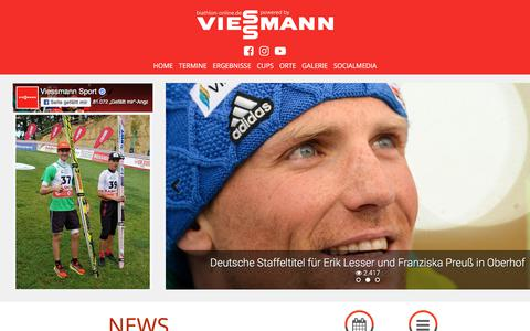 Screenshot of Home Page biathlon-online.de - biathlon-online.de - Das Biathlon Portal in Deutschland - Infos, Interviews und Portraits. Alles rund um den Biathlonsport auf Biathlon Online - captured Sept. 24, 2018