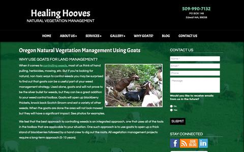 Screenshot of Team Page healinghooves.com - Goat Clearing & Grazing Services for Vegetation Control in Oregon  | Healing Hooves LLC - captured Sept. 27, 2018