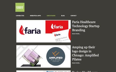 Screenshot of Case Studies Page ceedcreative.com - Case Studies - CEED Creative : Brand Strategy & Design - captured May 11, 2017