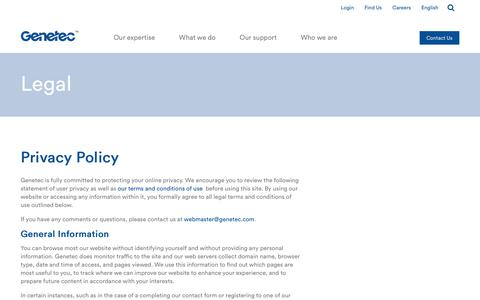 Privacy Policy | Genetec