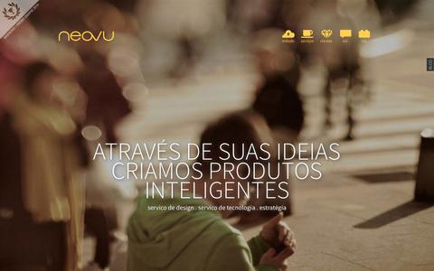 Screenshot of Home Page neovu.com.br - Neovu    User Experience Design Florianópolis SC - captured Jan. 28, 2015