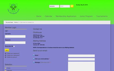 Screenshot of Contact Page oakbaytc.com - Contact Us - captured May 22, 2016