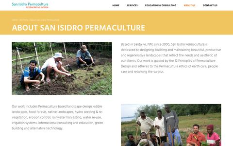 Screenshot of About Page sipermaculture.com - About San Isidro Permaculture - SI Permaculture - captured Nov. 18, 2016