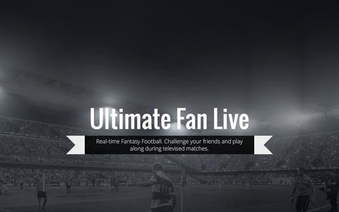 Screenshot of Blog ultimatefanlive.com - Ultimate Fan Live - captured Dec. 4, 2015