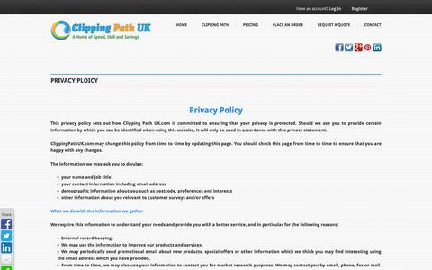 Screenshot of Privacy Page clippingpathuk.com - Privacy Ploicy | Clippingpathuk.com - captured Oct. 3, 2014