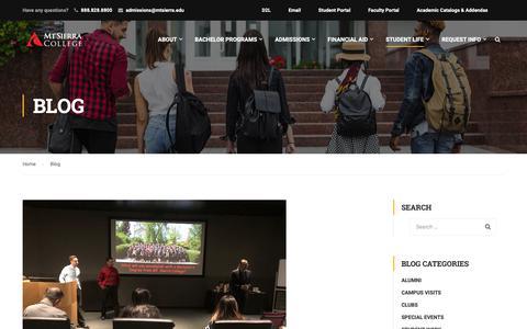 Screenshot of Blog Press Page mtsierra.edu - Blog - Mt Sierra College - captured Oct. 19, 2018
