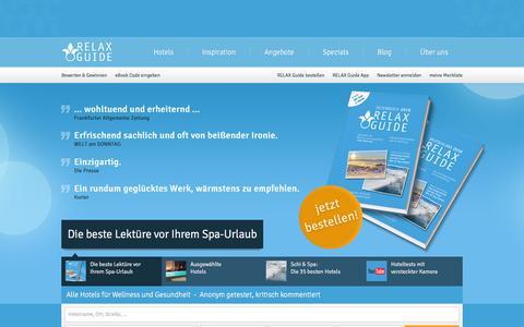 Screenshot of Home Page relax-guide.com - Wellnesshotel   RELAX Guide Hotelbewertung - captured Jan. 19, 2016