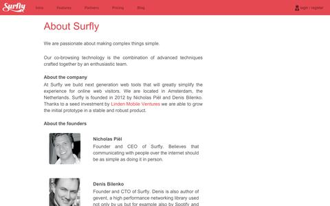 Screenshot of About Page surfly.com - Surfly | The best co-browse solution - captured Sept. 11, 2014