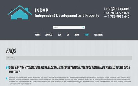 Screenshot of FAQ Page indap.net - FAQs  |  INDAP - captured Oct. 4, 2014