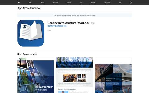 Bentley Infrastructure Yearbook on the App Store