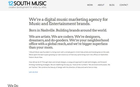Screenshot of About Page 12southmusic.com - 12South Music | Music Marketing Agency | Nashville - captured Dec. 13, 2016