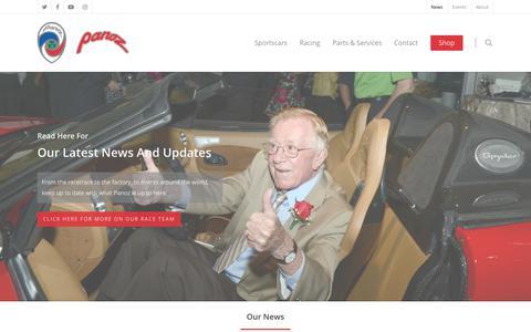 Screenshot of Press Page panoz.com - News - Panoz - captured Nov. 17, 2017
