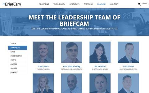 Screenshot of Team Page briefcam.com - Meet the leadership team of BriefCam | BriefCam - captured Oct. 6, 2018