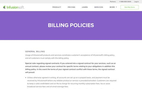 Billing Policies