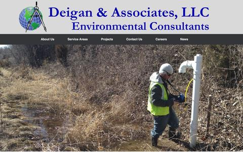 Screenshot of Home Page deiganassociates.com - Deigan & Associates, LLC Environmental Consultants - captured Nov. 24, 2016