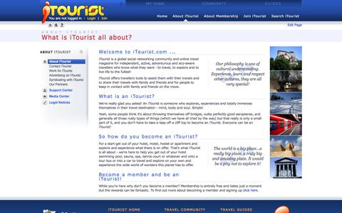 Screenshot of About Page itourist.com - About iTourist - Life's a journey - share it with iTourist! - captured June 4, 2016