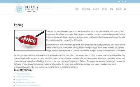 Screenshot of Pricing Page floradelaney.com - Pricing - Delaney Consulting and Creative - captured Oct. 8, 2018