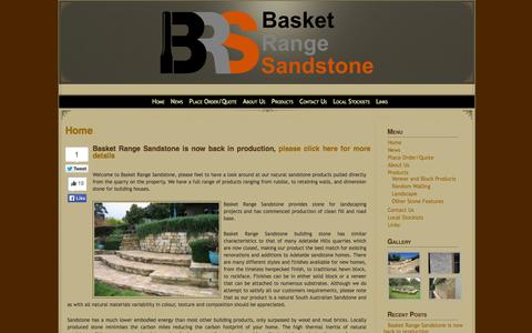 Screenshot of Home Page basketrangesandstone.com.au - Basket Range Sandstone>Home » Basket Range Sandstone> - captured Sept. 30, 2014