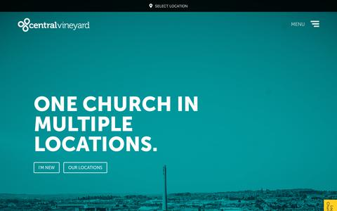 Screenshot of Home Page centralvineyard.co.uk - Central Vineyard - A Church in Northampton, Kettering & Wellingborough - captured Dec. 14, 2018